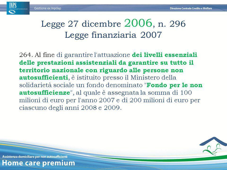 Legge 27 dicembre 2006, n. 296 Legge finanziaria 2007