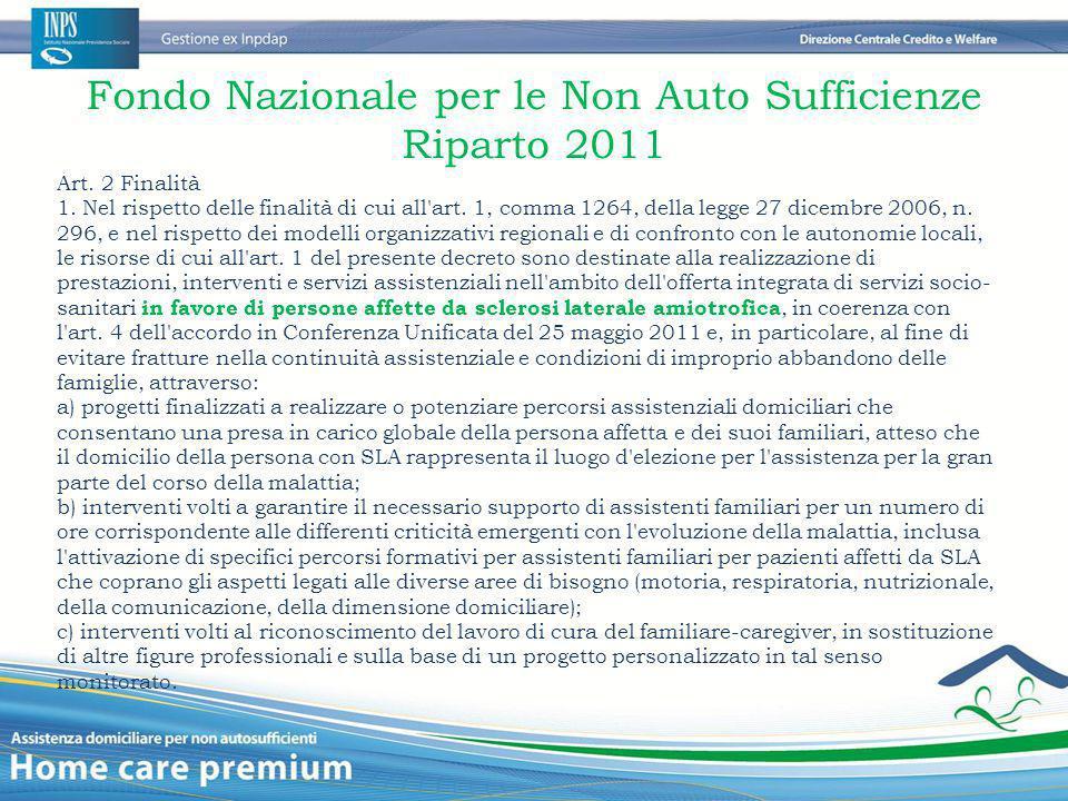 Fondo Nazionale per le Non Auto Sufficienze