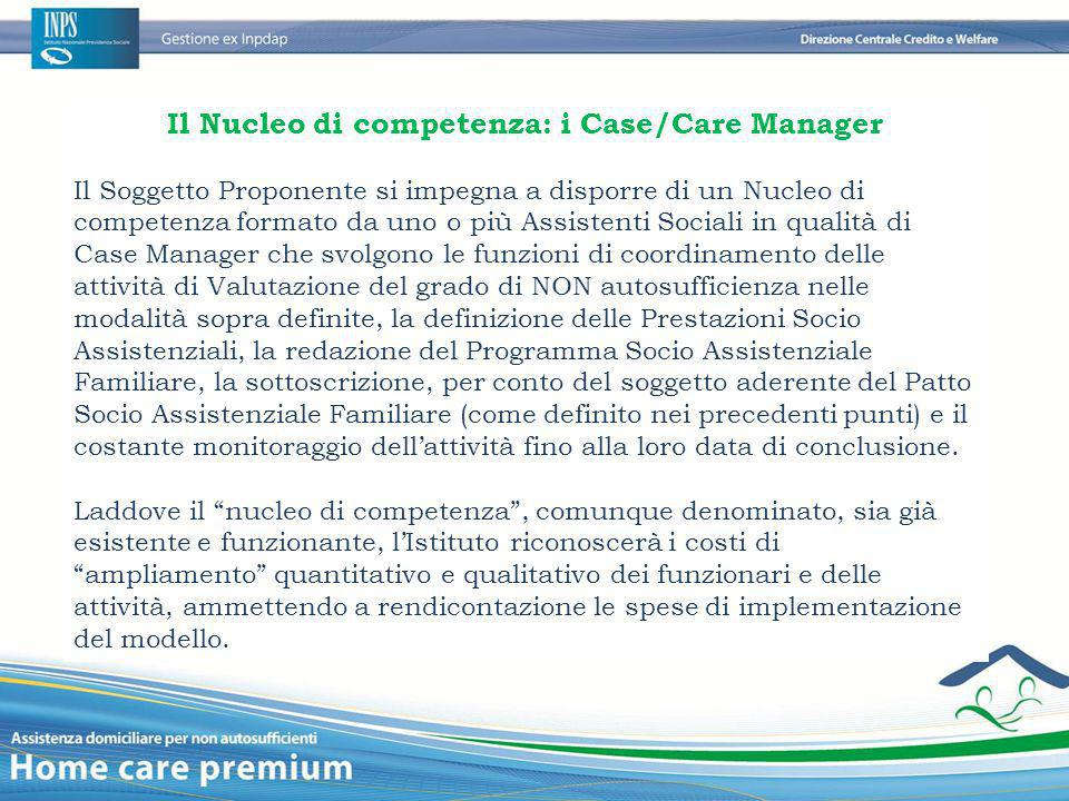 Il Nucleo di competenza: i Case/Care Manager