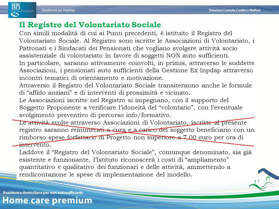 Il Registro del Volontariato Sociale