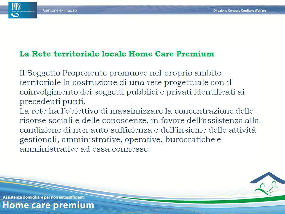 La Rete territoriale locale Home Care Premium