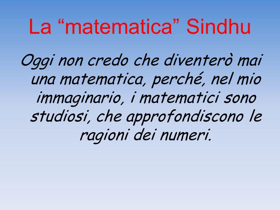 La matematica Sindhu