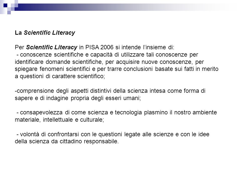 La Scientific Literacy