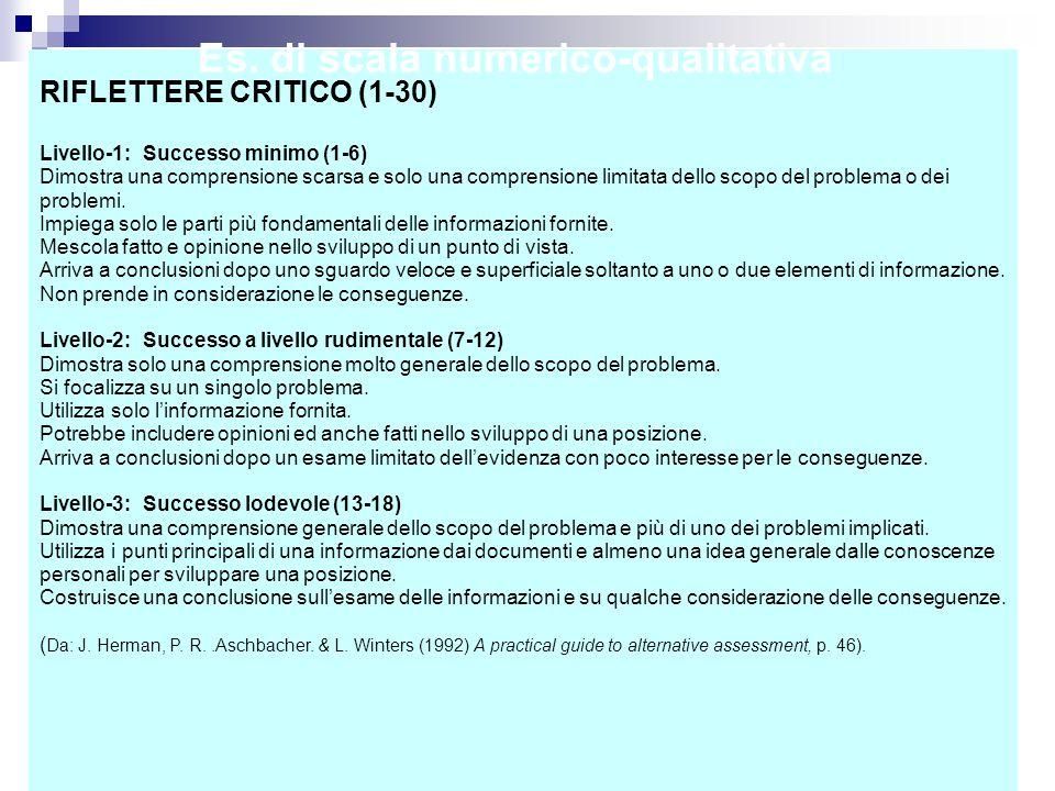 Es. di scala numerico-qualitativa