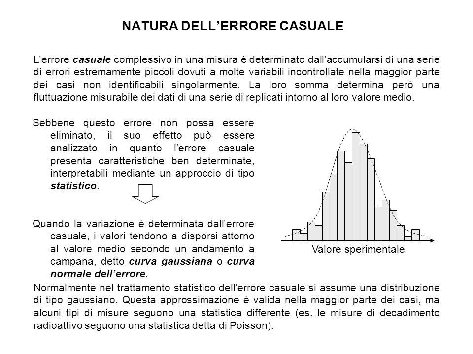 NATURA DELL'ERRORE CASUALE