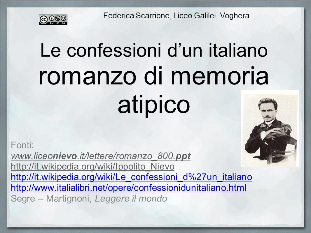 Le confessioni d'un italiano romanzo di memoria atipico