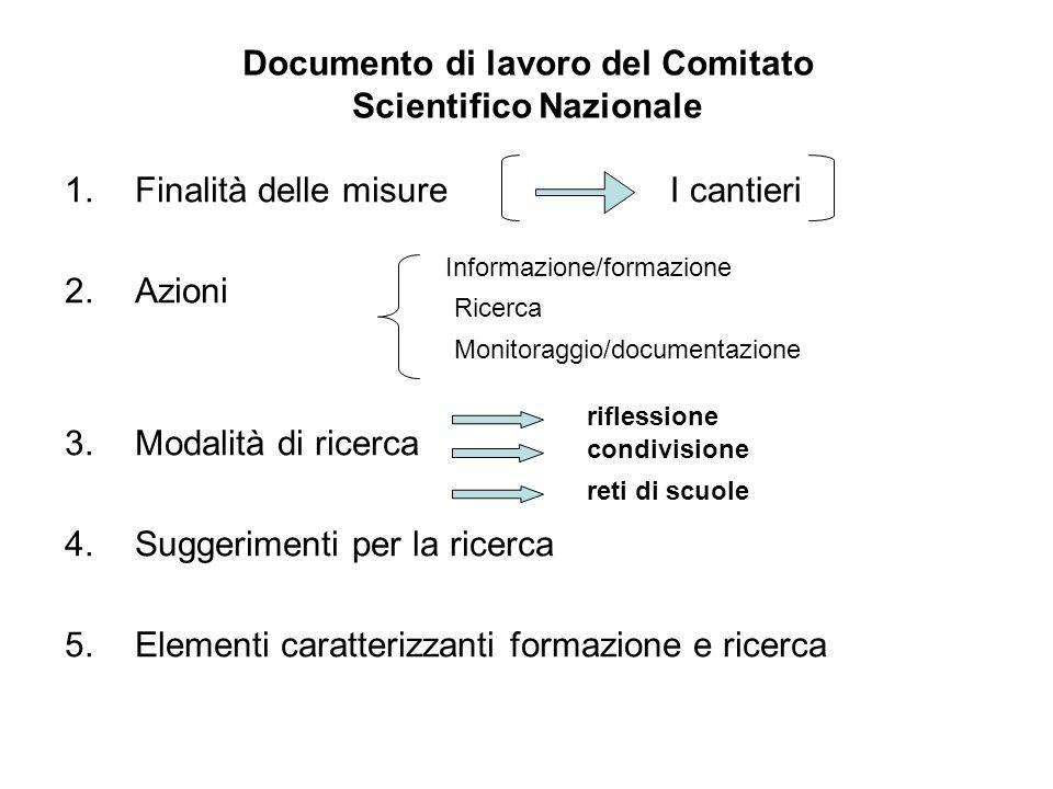 Documento di lavoro del Comitato Scientifico Nazionale