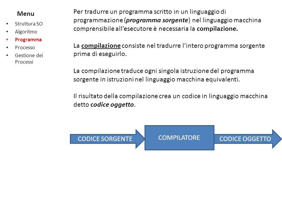 Per tradurre un programma scritto in un linguaggio di programmazione (programma sorgente) nel linguaggio macchina comprensibile all'esecutore è necessaria la compilazione.