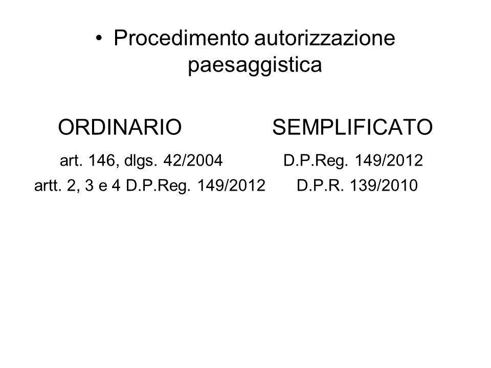 Procedimento autorizzazione paesaggistica