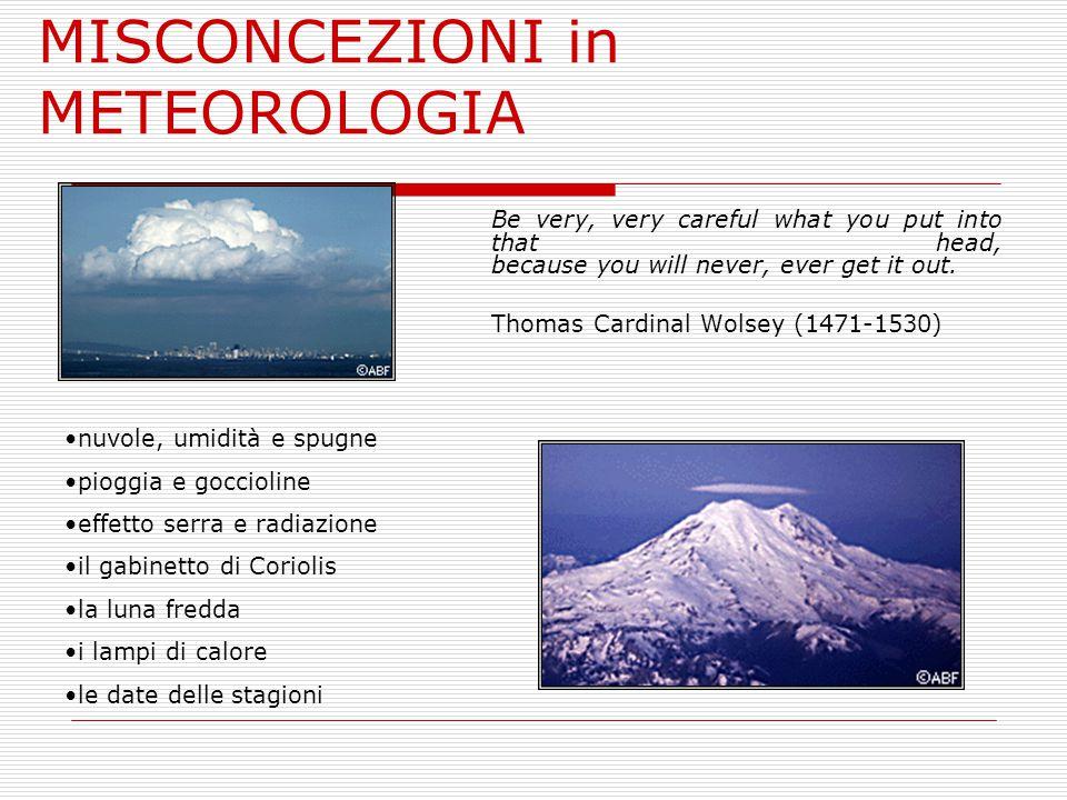MISCONCEZIONI in METEOROLOGIA