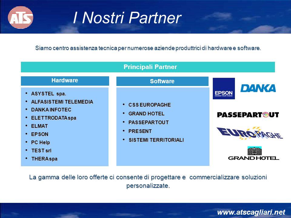 I Nostri Partner www.atscagliari.net Principali Partner
