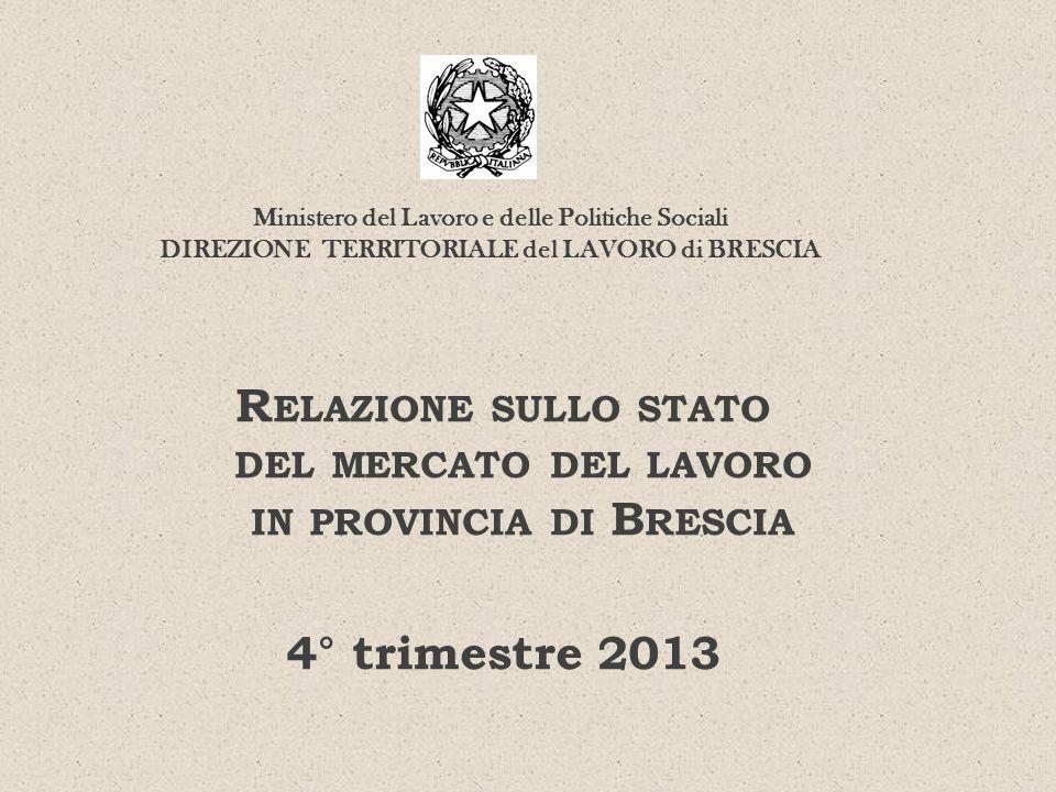 Relazione sullo stato del mercato del lavoro in provincia di Brescia