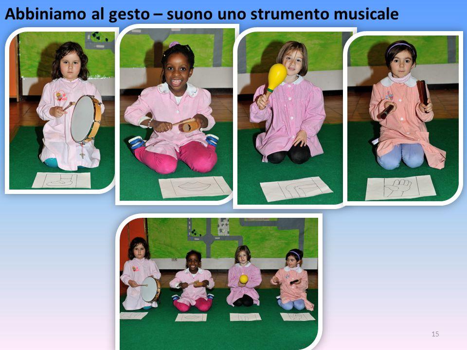 Abbiniamo al gesto – suono uno strumento musicale
