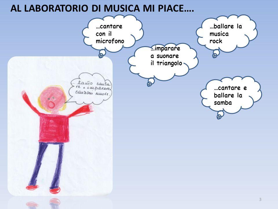 AL LABORATORIO DI MUSICA MI PIACE….
