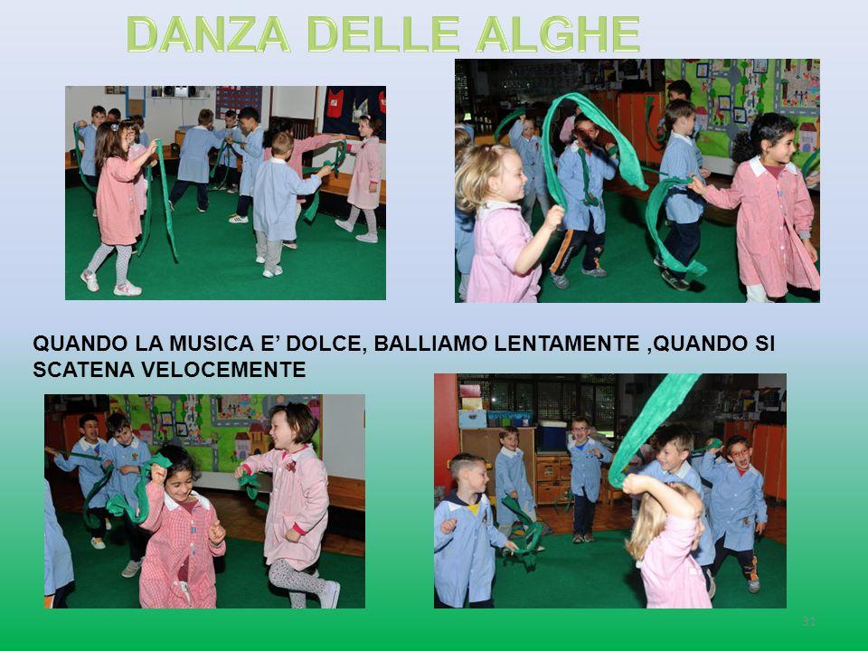 DANZA DELLE ALGHE QUANDO LA MUSICA E' DOLCE, BALLIAMO LENTAMENTE ,QUANDO SI SCATENA VELOCEMENTE