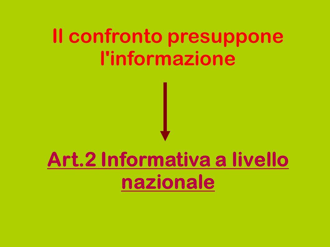 Art.2 Informativa a livello nazionale