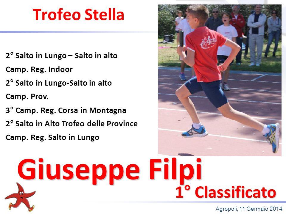 Giuseppe Filpi Trofeo Stella 1° Classificato