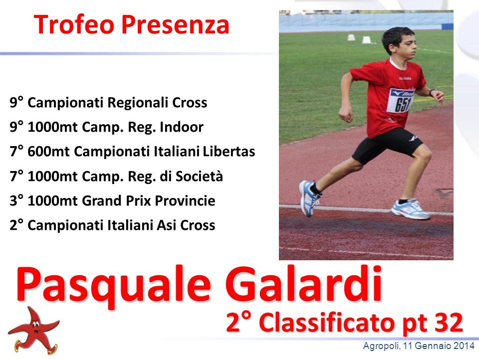 Pasquale Galardi Trofeo Presenza 2° Classificato pt 32