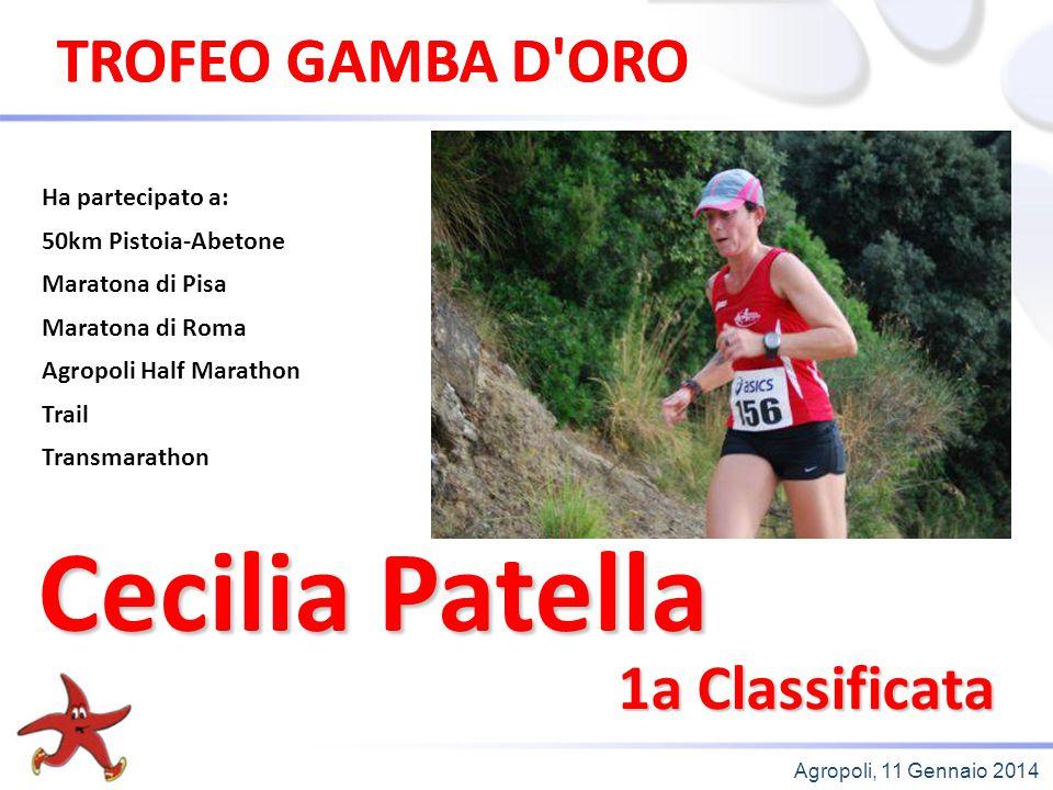 Cecilia Patella TROFEO GAMBA D ORO TROFEO GAMBA D ORO 1a Classificata