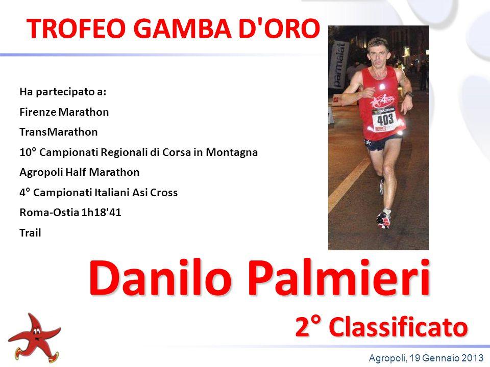 Danilo Palmieri TROFEO GAMBA D ORO TROFEO GAMBA D ORO 2° Classificato