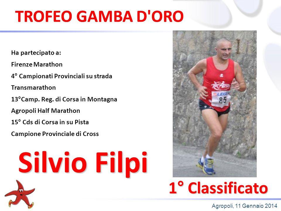 Silvio Filpi TROFEO GAMBA D ORO TROFEO GAMBA D ORO 1° Classificato
