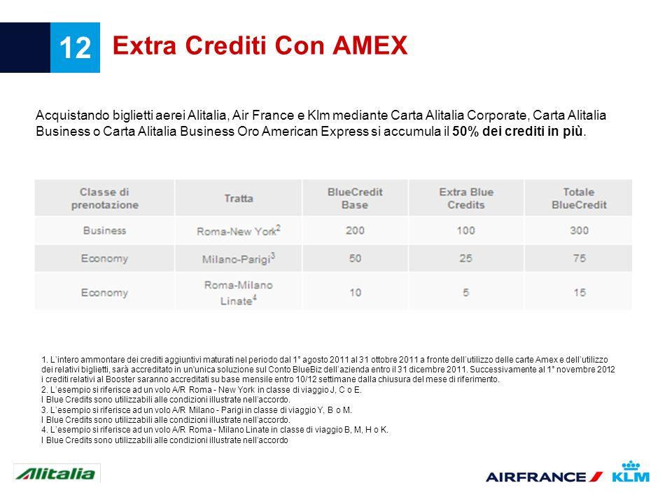 Extra Crediti Con AMEX