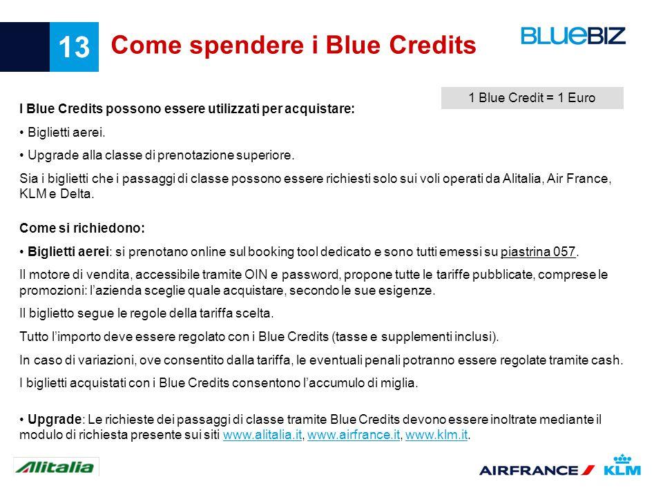 Come spendere i Blue Credits