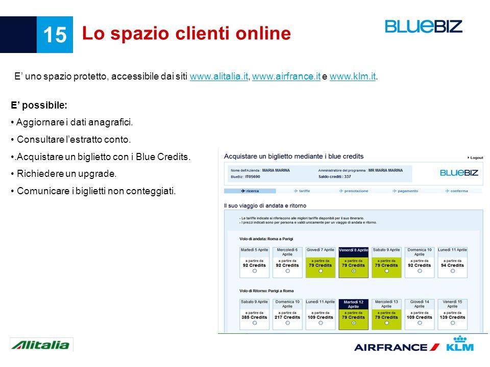 Lo spazio clienti online