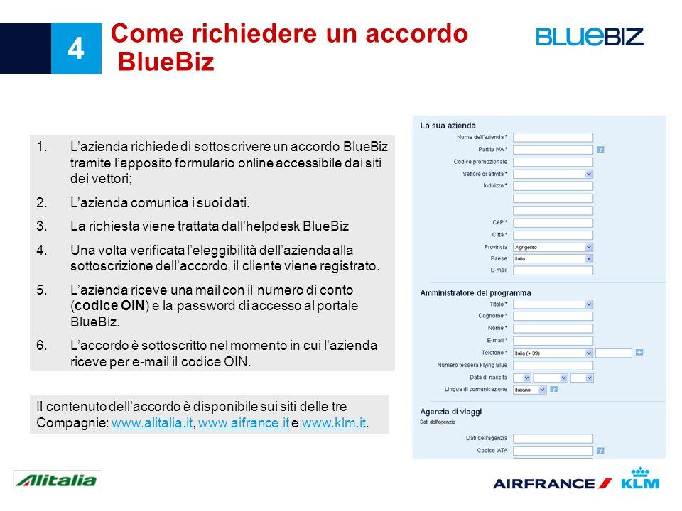 Come richiedere un accordo BlueBiz