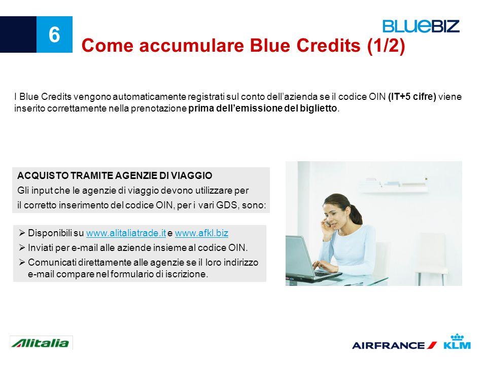Come accumulare Blue Credits (1/2)