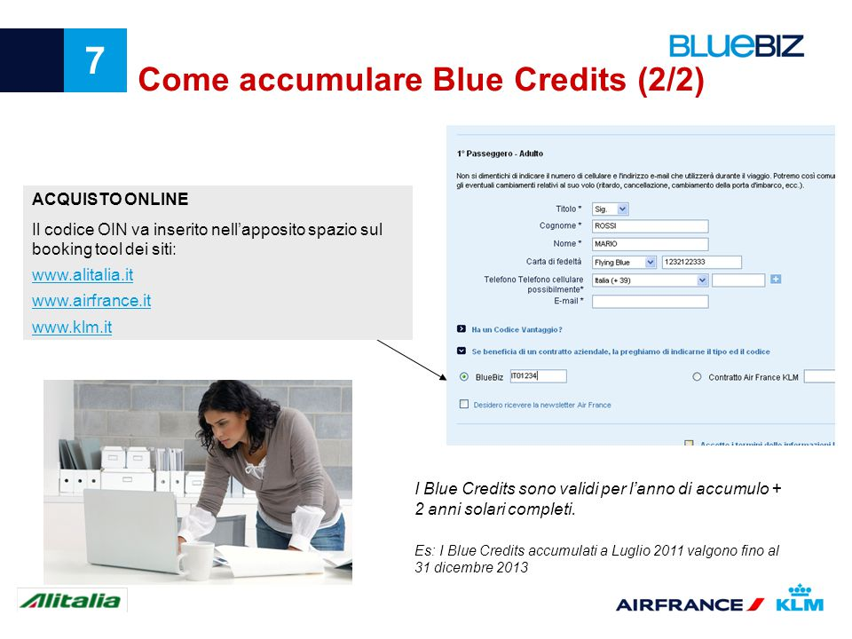 Come accumulare Blue Credits (2/2)