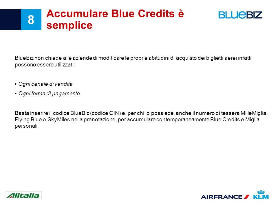 Accumulare Blue Credits è semplice