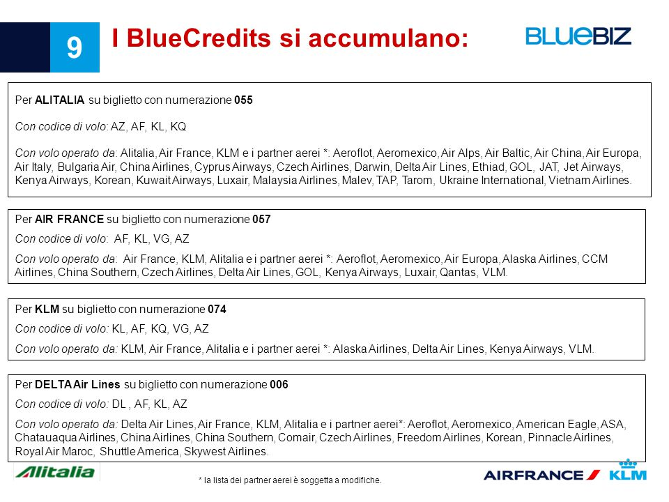 I BlueCredits si accumulano: