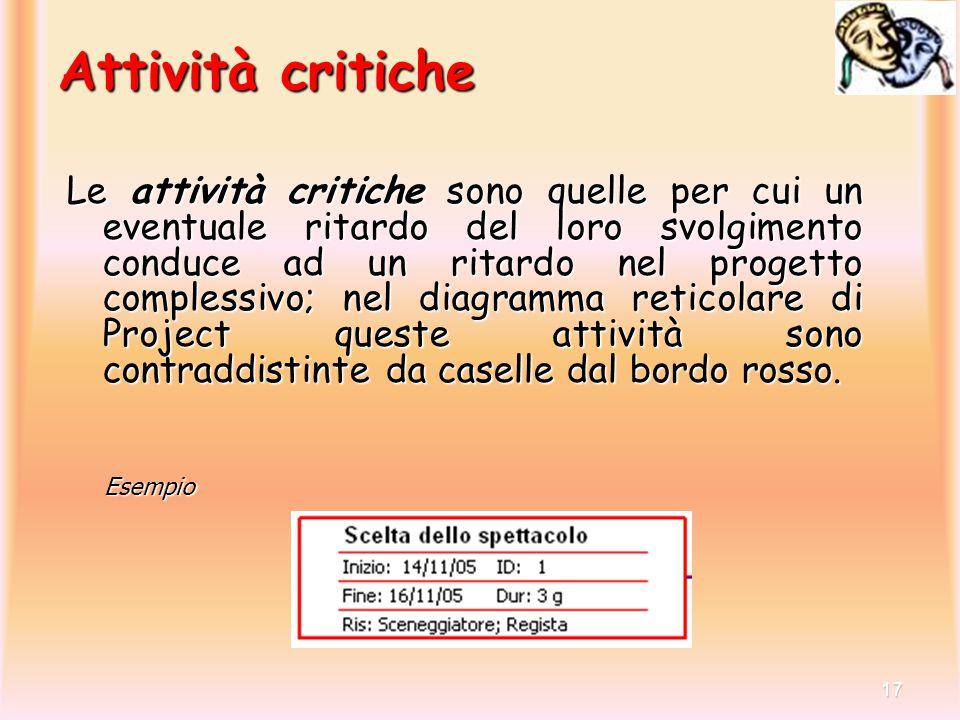 Attività critiche