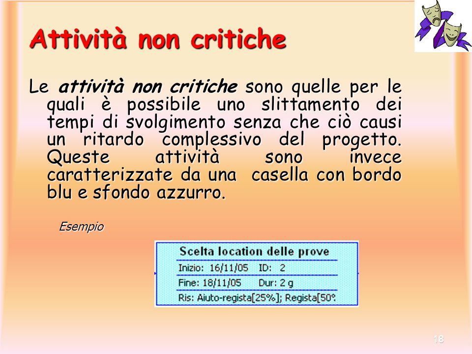 Attività non critiche