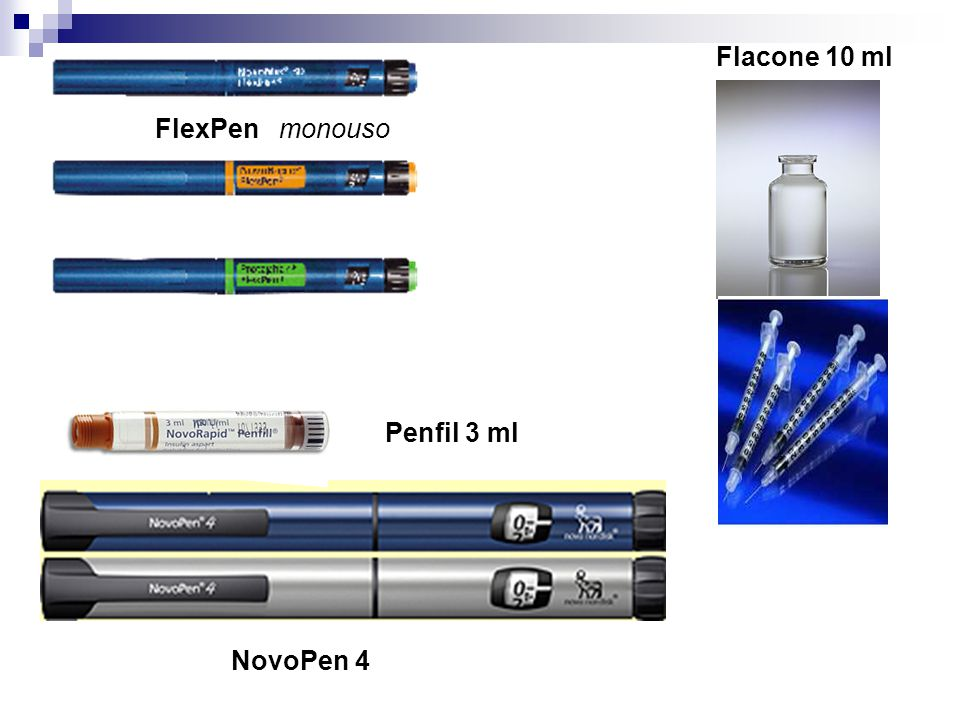 Flacone 10 ml FlexPen monouso Penfil 3 ml NovoPen 4