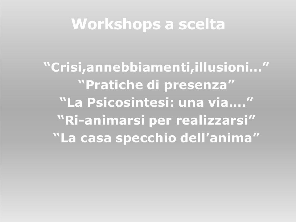 Workshops a scelta