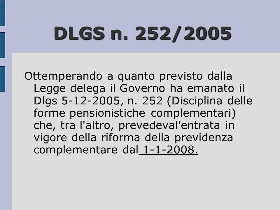 DLGS n. 252/2005