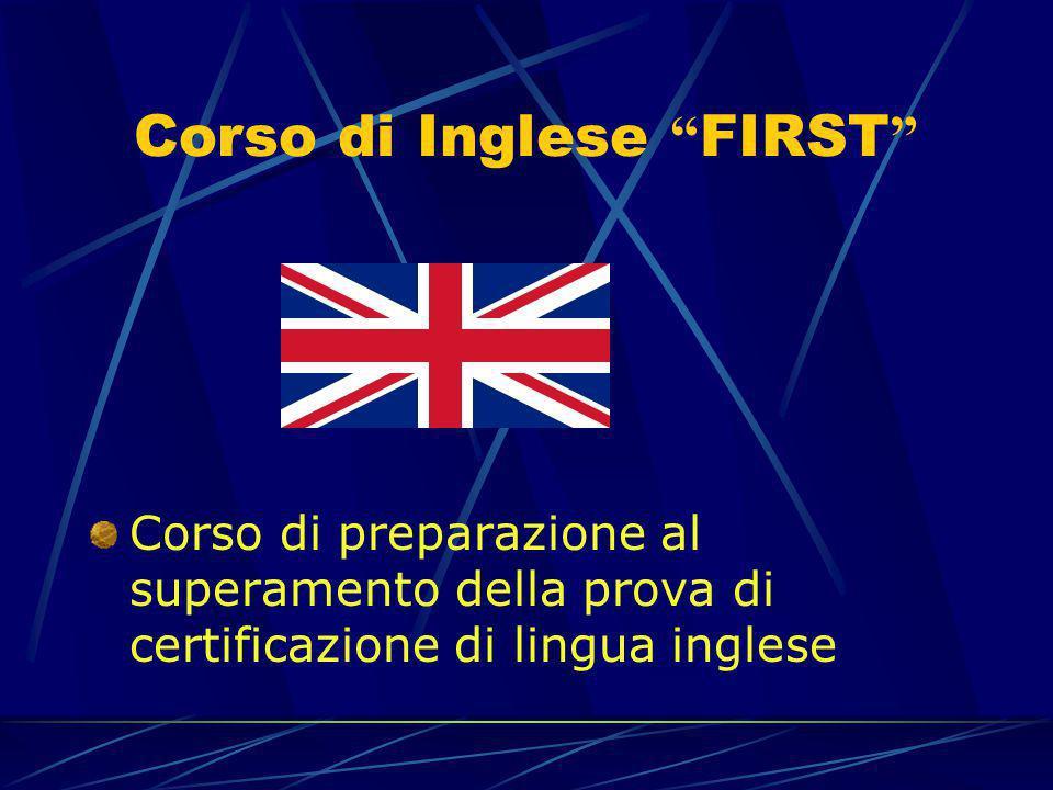 Corso di Inglese FIRST