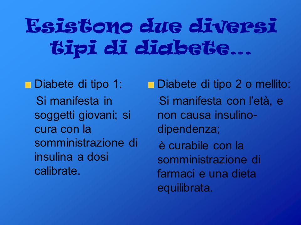 Esistono due diversi tipi di diabete…