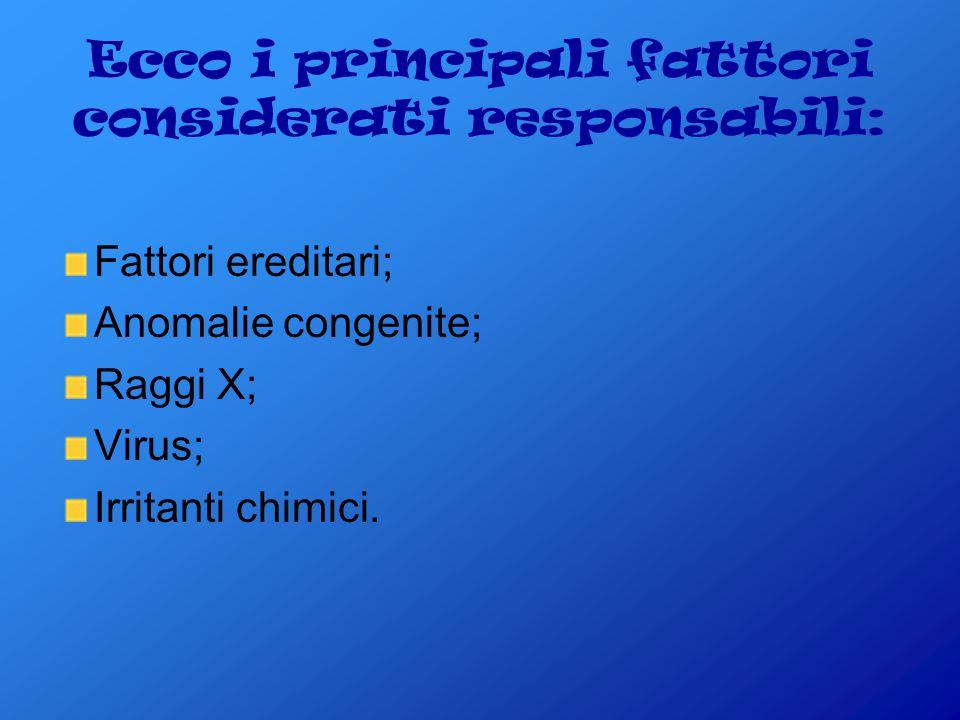 Ecco i principali fattori considerati responsabili: