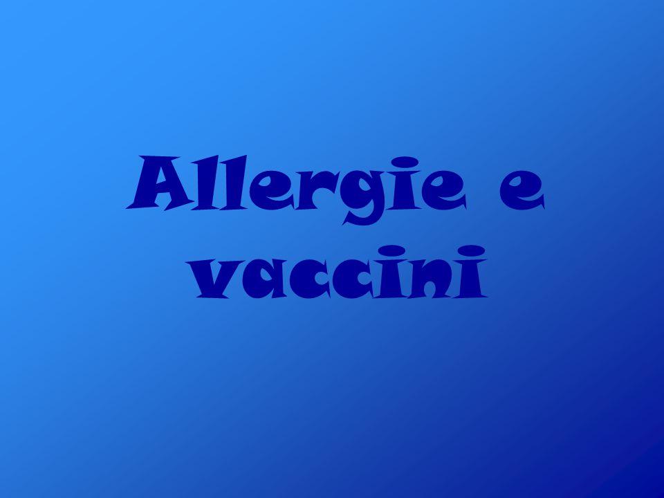 Allergie e vaccini