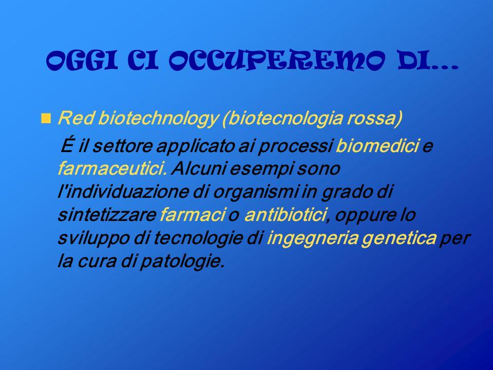 OGGI CI OCCUPEREMO DI… Red biotechnology (biotecnologia rossa)