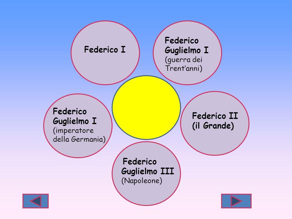Federico Guglielmo I Federico I Federico Guglielmo I Federico II