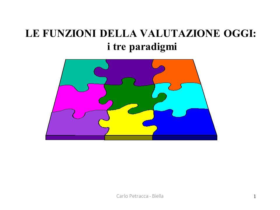 LE FUNZIONI DELLA VALUTAZIONE OGGI: i tre paradigmi