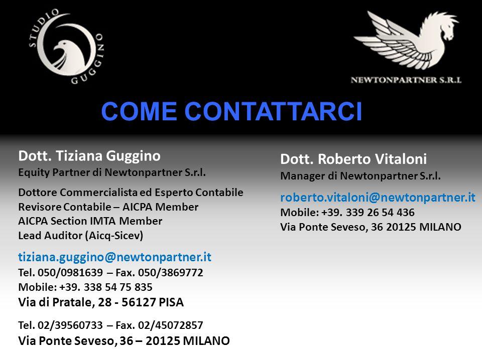 COME CONTATTARCI Dott. Tiziana Guggino Dott. Roberto Vitaloni