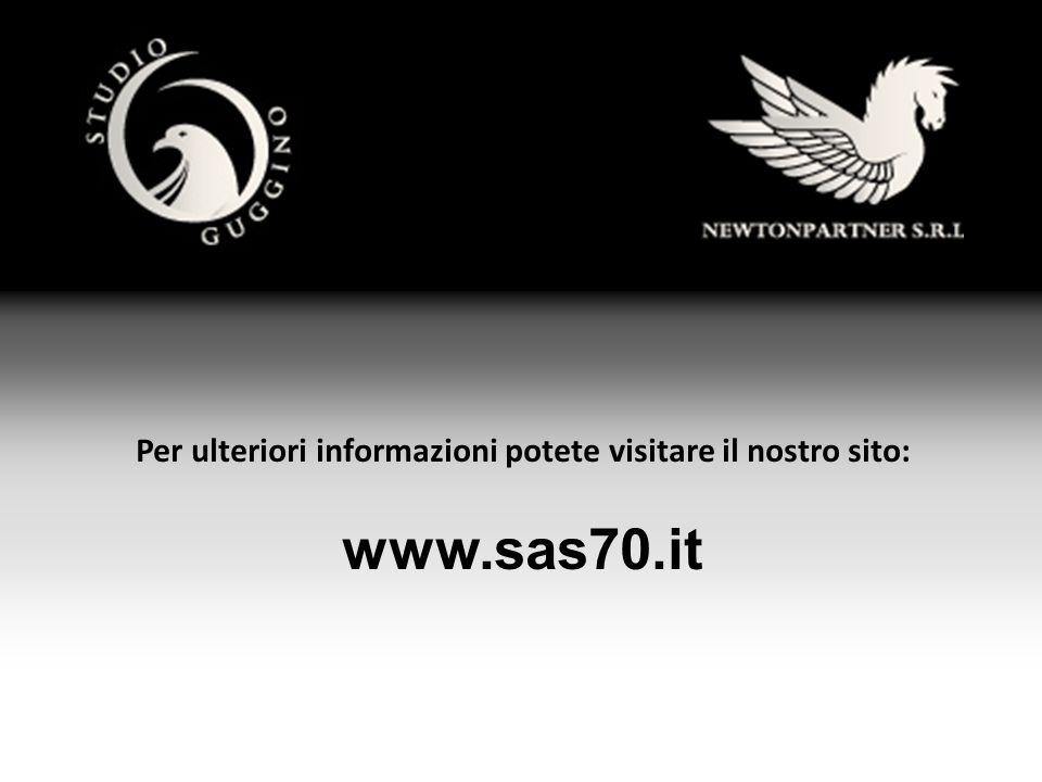 Per ulteriori informazioni potete visitare il nostro sito: