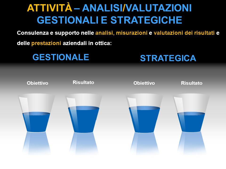 ATTIVITà – Analisi/valutazioni gestionali e strategiche