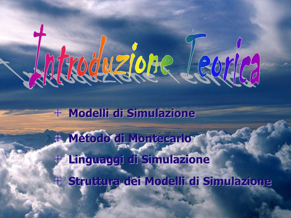 Introduzione Teorica Modelli di Simulazione Metodo di Montecarlo