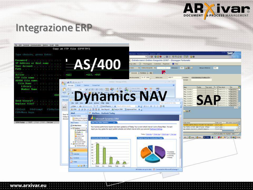 Integrazione ERP AS/400 Dynamics NAV SAP